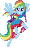 Rainbow Dash (Full Anthro) 200th deviation! by Ambassad0r