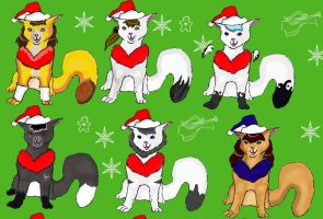 Christmas icons 1 by lioness14
