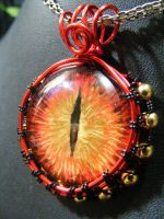 Eye of Sauron pendant by BacktoEarthCreations