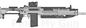 Mk.4 Bulldog assault rifle by GunFreakFin