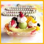 Tropical Banana Split Necklace by cherryboop