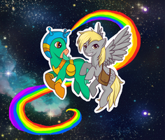 Derpy and the Space Unicorn by eruanna