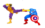 Batroc vs Captain America by alan-san