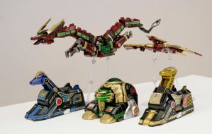 Legacy Thunder Zords?! by ryanthescooterguy