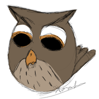 Owl Angry Birds Style - Request by Digital--Quill