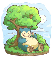 143 - Snorlax by Electrical-Socket