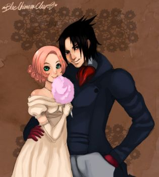 :SasuSaku-Portrait: by d-clua