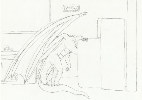 Another Dragon sketch by dragonkiller38