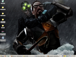 Sam Fisher VS Gordon Freeman by ManWithAPlan
