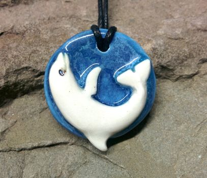 Dolphin Pendant by NatureSculptures