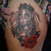 corpse bride tattoo by Frosttattoo