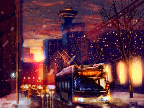 Downtown Vancouver by Ecstatic-ectsy