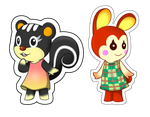 Animal Crossing - Stickers by Sparkle-And-Sunshine