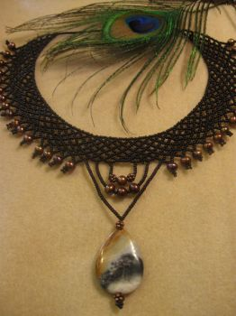 Another Netted Necklace by Shananagins1974