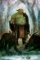 Orc and his Trackers by robinchyo