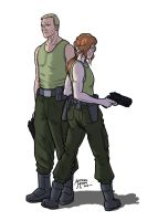 Major Rucker and Major Bronniford by MrAverage