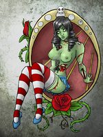 Zombie Pinup by tehPaq-Man