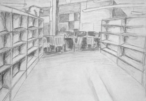 Library in Graphite by Dousedflames