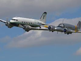 Avro Anson and Dakota Pass by davepphotographer