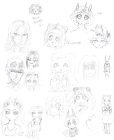 Pagefull of sketches by Shadowstar