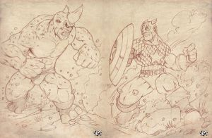 RHINO vs CAP PENCILS by CaziTena