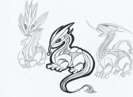 Scattering Leaf Dragon by The-Flightless-Wolf