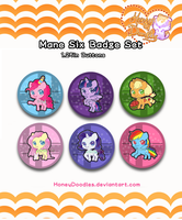 Mane Six Button Set by HoneyDoodles