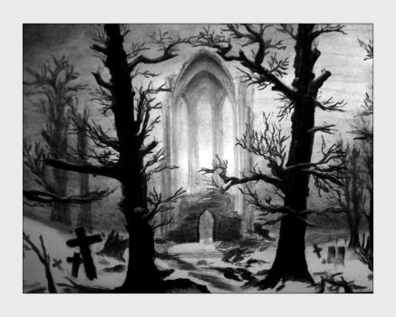 ruin in the snow by phynyx