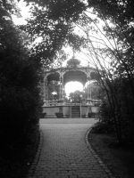 Kiosk in the park by PuzzledHeartBox
