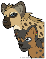 Amali and Baruti by The-Smile-Giver