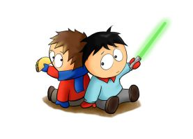 Kevin Stoley and Clyde Donovan by SouthParkPhilosopher