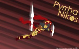 Pyrrha Nikos Silhouette Background by DanTherrien101