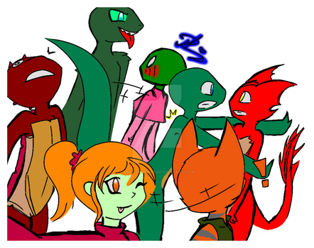 Chaotic Group Selfie by MR-ThunderOcean
