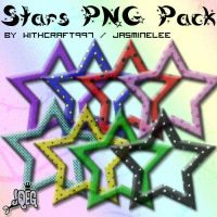 Glitter Stars PNG Pack by Witchcraft997