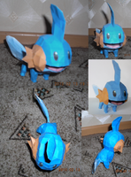 Mudkip papercraft by Weirda208
