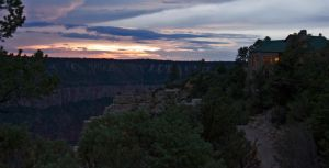 North Rim Lodge at sunset by sequential