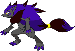 Shiny Zoroark : DW Art by Muums