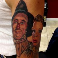 Dorothy and scarecrow Tattoo by Mikeashworthtattoos