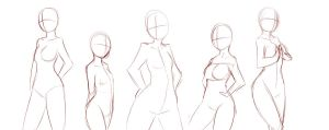 Group poses by rika-dono