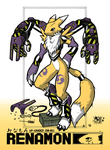 -Renamon Up-G :colored:- by megawolf77