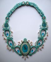 Winters touch-soutache necklace by FdFCrafts