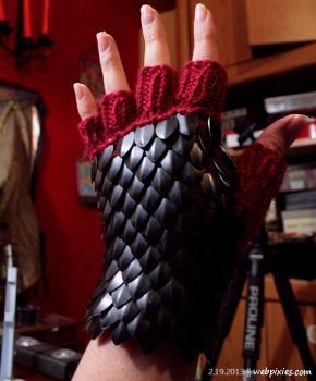 Scaled Gloves by pervyfaerie