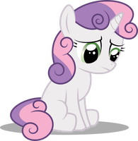 Sad Sweetie Belle by Soren-the-Owl