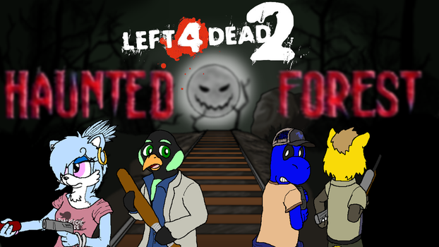 Left 4 Dead 2: Haunted Forest Title Card by Squeaky-the-Zepa