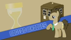 Doctor Whooves Wallpaper by Pappkarton