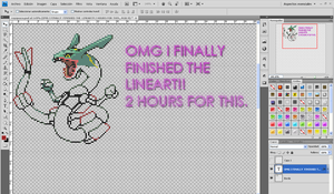 Pixel Rayquaza WIP by SuperPichi