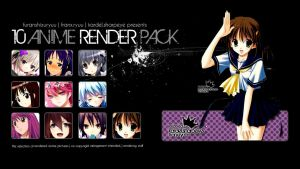10 Anime Render Pack v. 1 by furanshizuryuu
