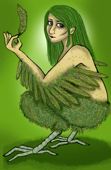 Day 1: Harpy by pink-anthony