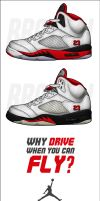 Air Jordan 5 Retro 'Fire Red' by BBoyKai91