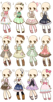 Loli Dresses Adopts 2 :CLOSED: by LukasB-adopts